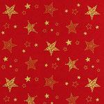 rot mit goldenen Sternen