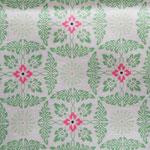 weiß mit mintfarbenen Floral-Muster