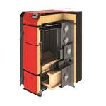 Querschnitt des Holzvergaserkessels PID Logic