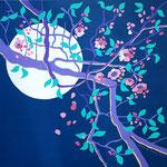 Lune solitaire - 60x60 cm - acrylique - 400 €