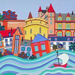 Amboise - 100x50 - acrylique - indisponible
