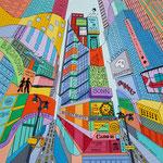 Broadway - 50x50 cm - acrylique - indisponible