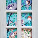 La vue de ma fenêtre – 38x62 cm - acrylique  – acrylique - indisponible