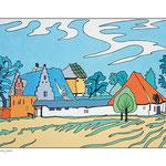 """D'après """"Petit paysage"""" de auteur inconnu, gravé par Hieronymus Cock"""