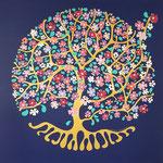 L'arbre de vie - 100x100 cm - acrylique - 1300 €