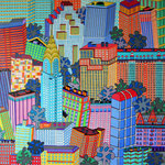 New York Manhattan I - 80x80 cm - acrylique - indisponible