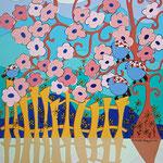 La palissade (inspiration Mallarmé) -  62 x 80 cm – acrylique - 500 €