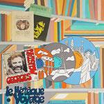 Rêve de voyage - 60 x 60 cm – acrylique/collage - indisponible