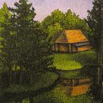 Пряничный домик, х.м., 40Х50 см., 2003
