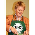 Renate Künast beim Bio-Kochen. 2009. Foto: Helga Karl