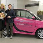 Nathalie Fischer & Fabio Privitera, Verkaufsleiter Merbagretail.ch Garage in Schlieren