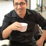 """Marco Ventura beim Frühstück """"shooting-pause"""""""