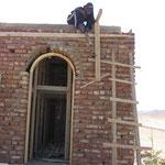 De bouw van het kantoor