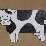 De boerderij krijgt een vrolijke tekening aan de buitenkant