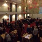 De boekpresentatie vond plaats in deze prachtige zaal in het WestCord Hotel in Delft
