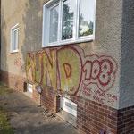 Graffitienfernung auf Putzfassade
