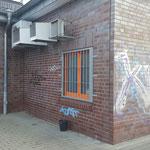 Graffitienfernung Klinkerfassade