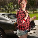 Balade en Ford Mustang et shooting photo pour elle (vue4) en Normandie