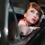 Balade en Ford Mustang et shooting photo pour elle (vue1) en Normandie