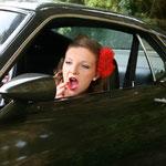 Balade en Ford Mustang et shooting photo pour elle (vue2) en Normandie