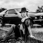 Balade en Ford Mustang et shooting photo pour elle (vue5) en Normandie