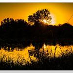 coucher de soleil en Dombes