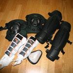Knie-, Scheinbein- und Tiefschutz