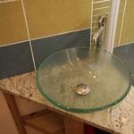 le chalet d'Athaline, détail salle d'eau Nomia