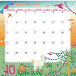 TOYOTAカレンダー2018 10月