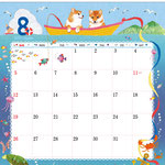 TOYOTAカレンダー2018 8月