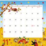 TOYOTAカレンダー2018 11月