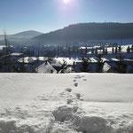 Winterlicher Ausblick von der Terrasse