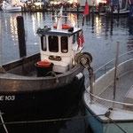漁師の船がかわいい!