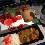 KLMオランダ航空の機内食はなんと!!カレーだぜ!