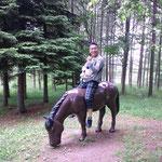 趣味は乗馬??三笠は馬が有名らしい。