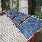 田口製作所の太陽光パネルは6枚使用