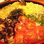 仕上げの素麺は寿司の鉢に!
