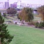 河川敷のゴルフ場