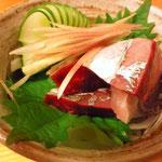 清水鯖の刺身