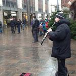 ストリート系クラリネット奏者