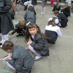1 сентября 2013 года, конкурс рисунков на асфальте