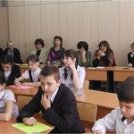 """В гостях у выпускников на открытом уроке 5 """"В"""""""