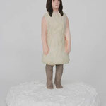 One-piece dress  plaster, acrylic h. 26.0 × w. 22.0 × d. 20.0 cm