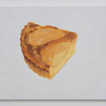 Pear tart  acrylic on canvas 31.8 × 40.9 cm