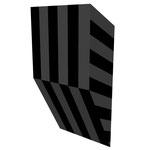 クロトグロスS上斜 アクリル、寒冷紗、MDFボード h. 18.0×w. 9.0×d. 5.0 cm