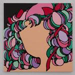 Dreamy girl America acrylic, enamel canvas 60.6 × 60.6 cm
