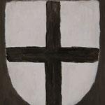 Cross  acrylic on canvas 22.7 × 15.8 cm