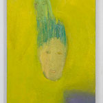 葱ぼうず:Welsh onion boy  2005 oil on canvas 53.5 × 33.5 cm