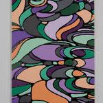 Magical curl acrylic, enamel canvas 60.6 × 40.9 cm