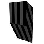 グロストクロS下斜 アクリル、寒冷紗、MDFボード h. 18.0×w. 9.0×d. 5.0 cm